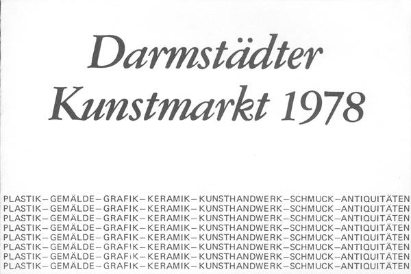 Darmstädter Kunstmarkt, 1978 Flyer 1