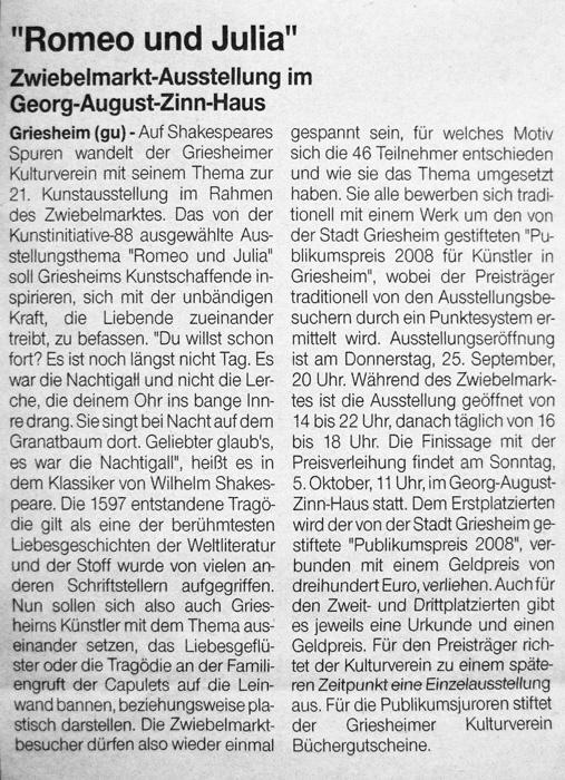 Artikel gu Zwiebelmarkt 2008