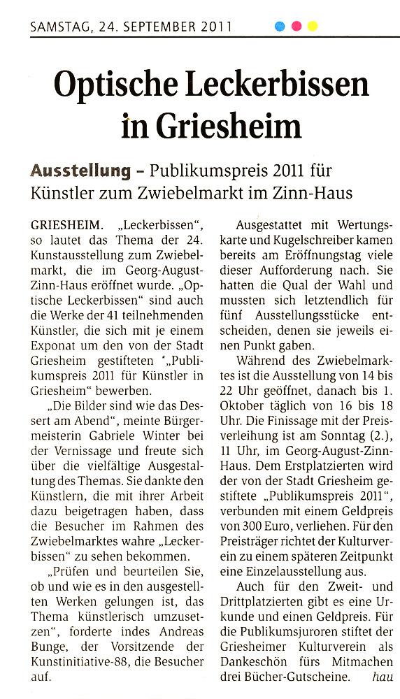 Artikel im Echo Zwiebelmarkt 2011