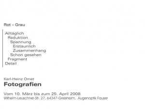 Optiker 2008 Handzettel