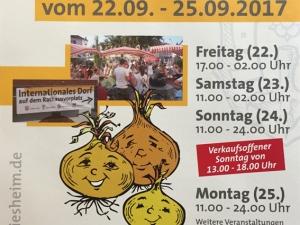 Zwiebelmarkt 2017 Plakat 1
