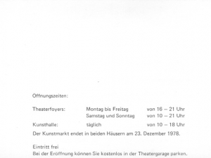 Darmstädter Kunstmarkt, 1978 Flyer 4