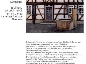 Plakat zur Ausstellung im Rathaus Nauheim 2006