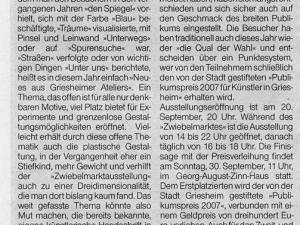 Artikel Griesheimer Woche Zwiebelmarkt 2007 2